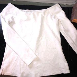 Off The Shoulder Long Sleeve Shirt